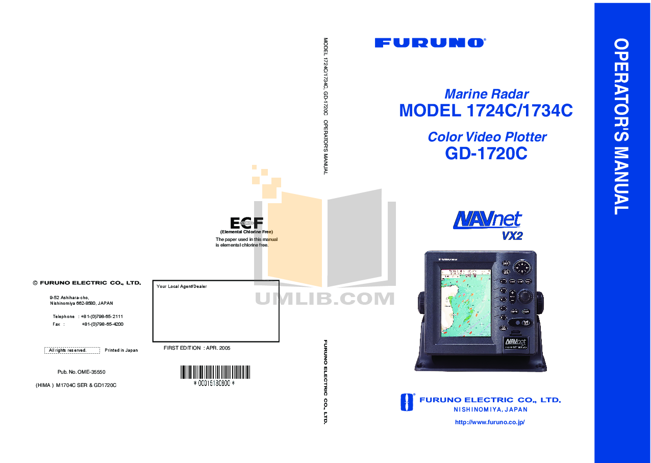 Download free pdf for Furuno NavNet 1834C-BB Video Plotter Other manual