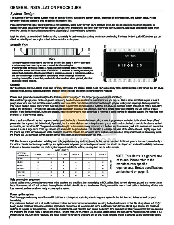 Hifonics Brutus Elite BRE Amplifier Manual.pdf 2 wat pdf manual for hifonics amp brutus bx1500d hifonics brutus amp wiring diagram at fashall.co