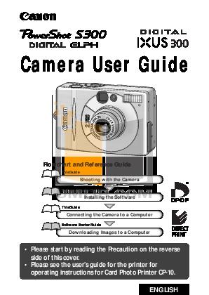 pdf for Canon Digital Camera Powershot S100 2MP Digital Elph manual