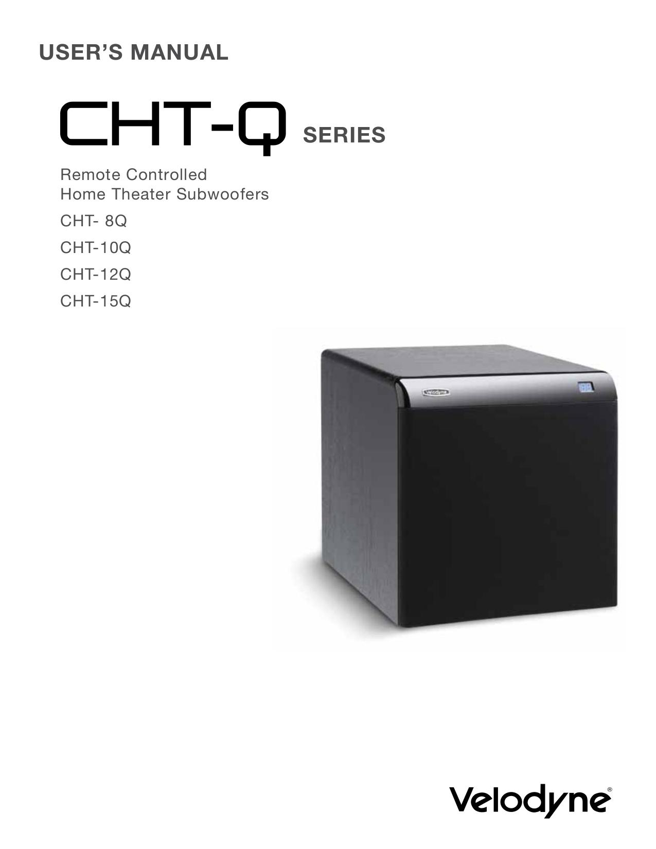 download free pdf for velodyne cht 8r subwoofer manual rh umlib com