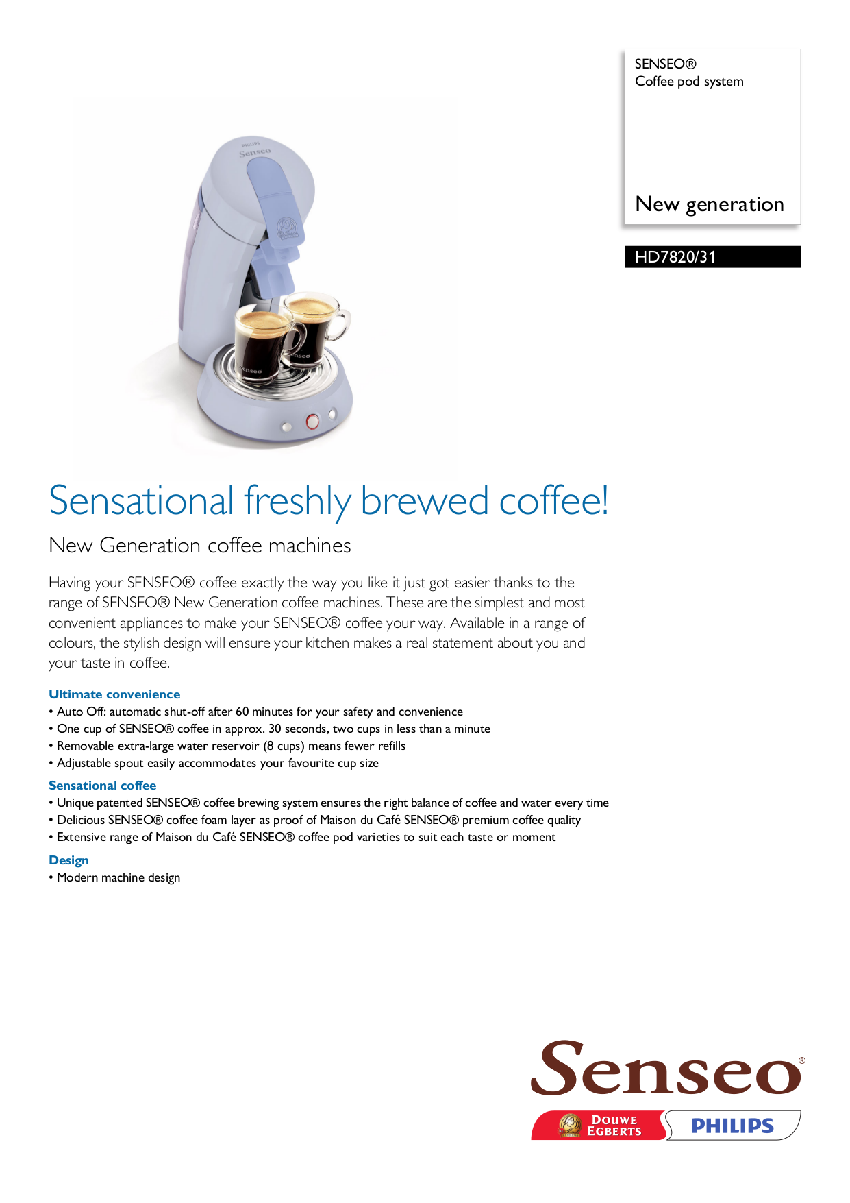 Senseo Coffee Maker Repair Manual : Download free pdf for Philips Senseo HD7820 Coffee Maker manual