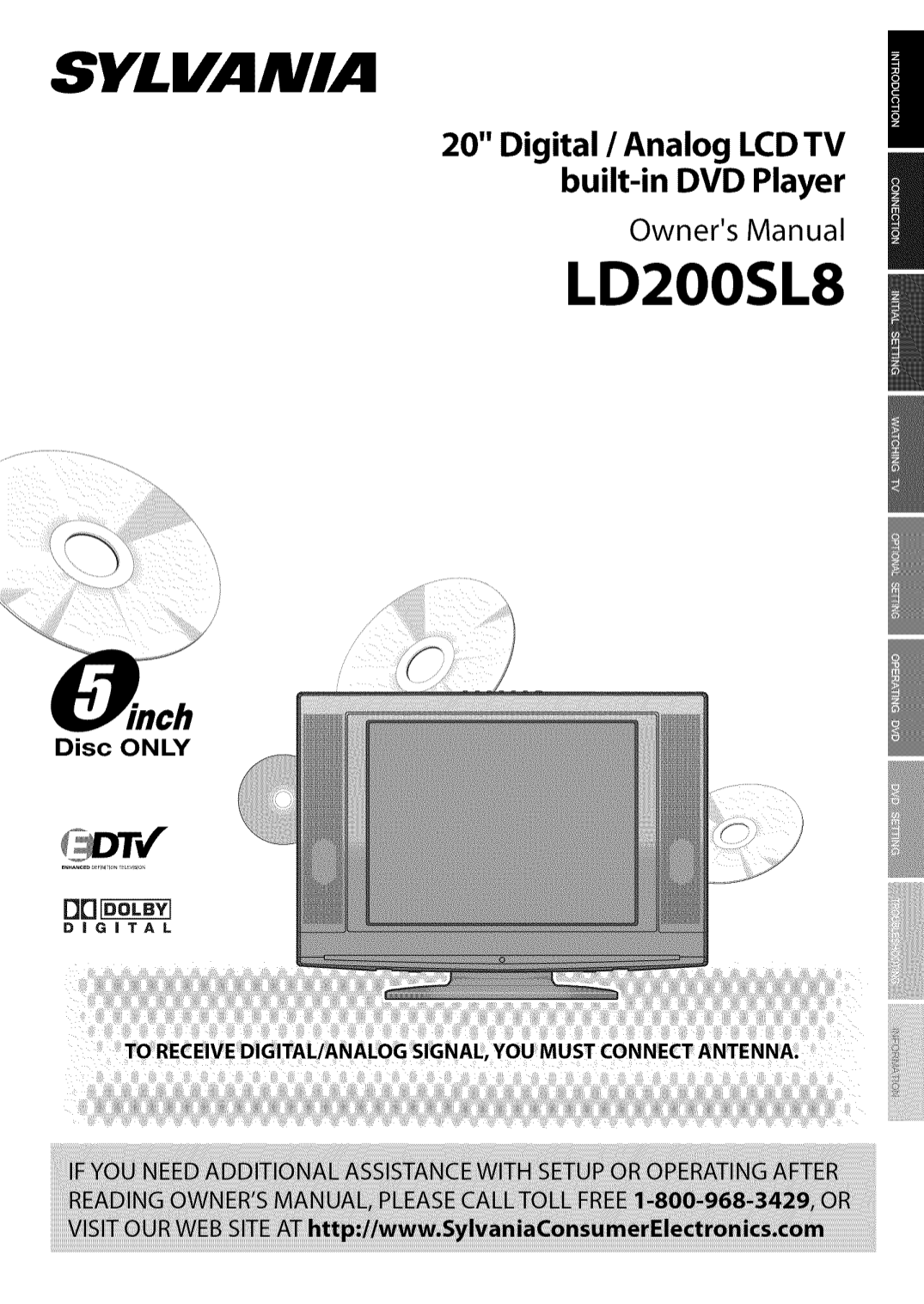 pdf for Sylvania TV LD-200SL8 manual