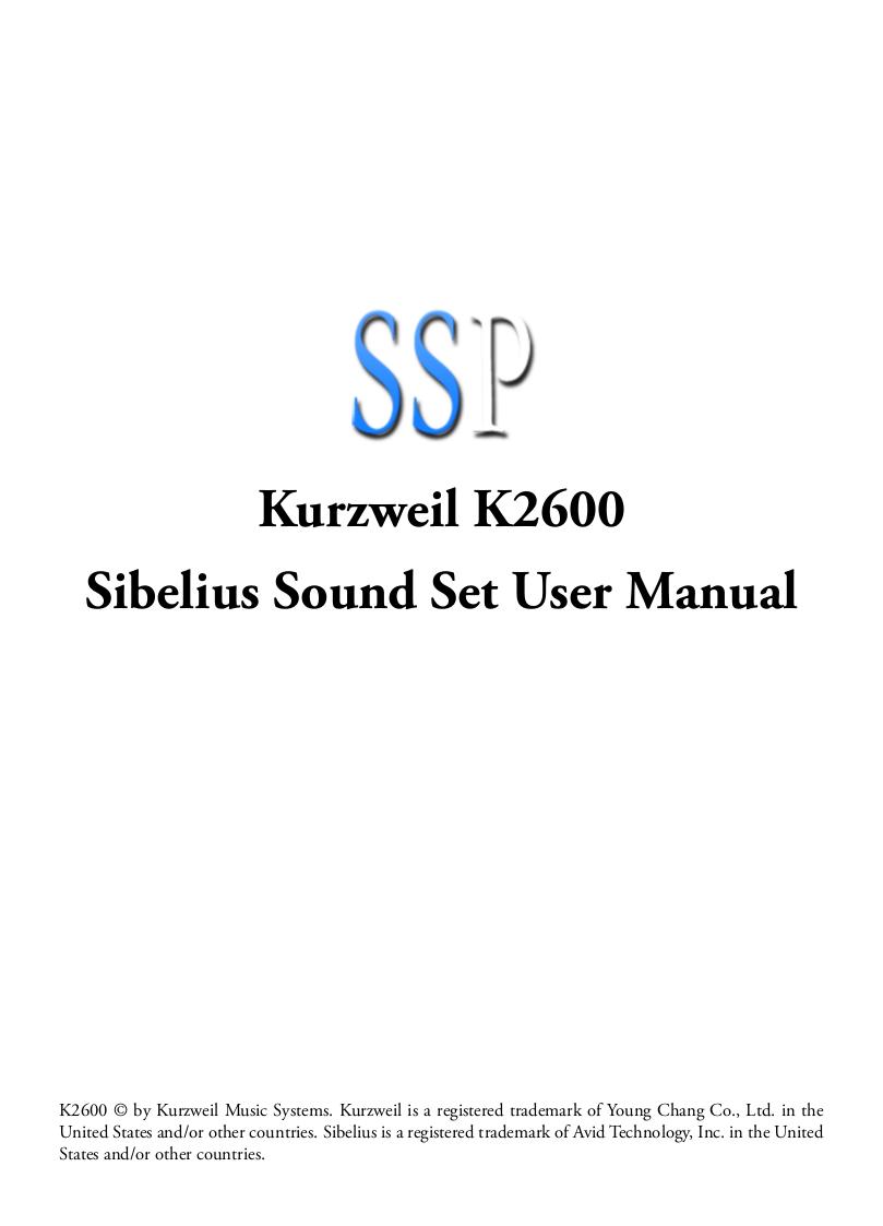 pdf for Kurzweil Music Keyboard K2600S manual