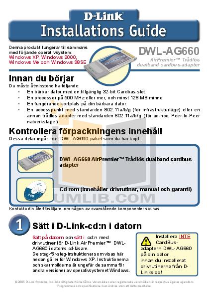 pdf for D-link Other DWL-AG660 manual