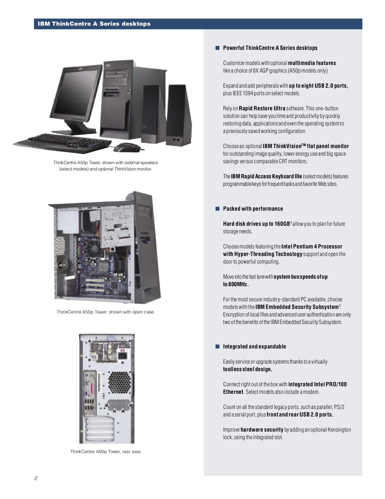 Lenovo Desktop ThinkCentre A30 8199 pdf page preview