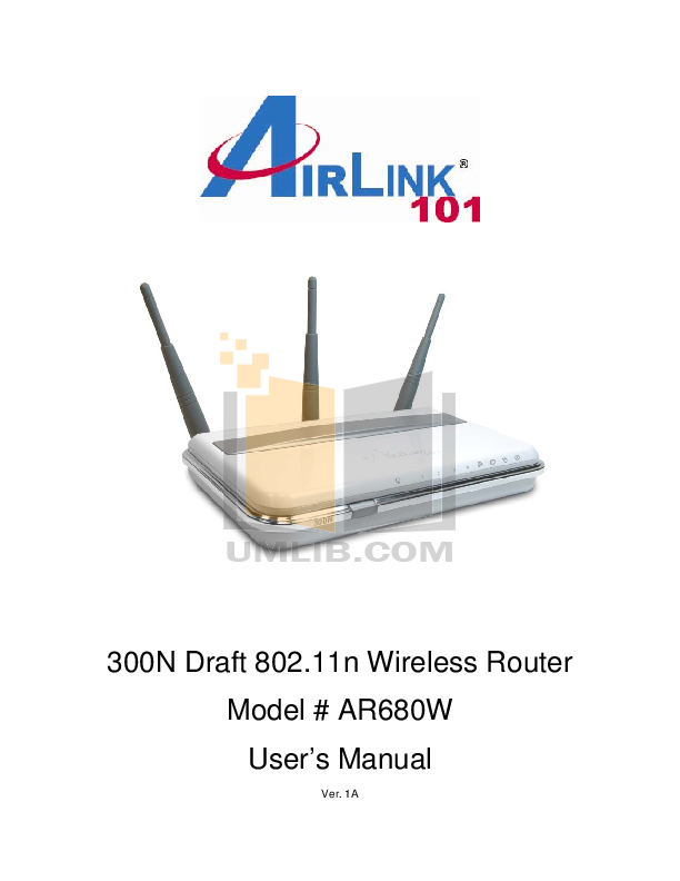 pdf for Airlink Other AWLH6080 Adapters manual