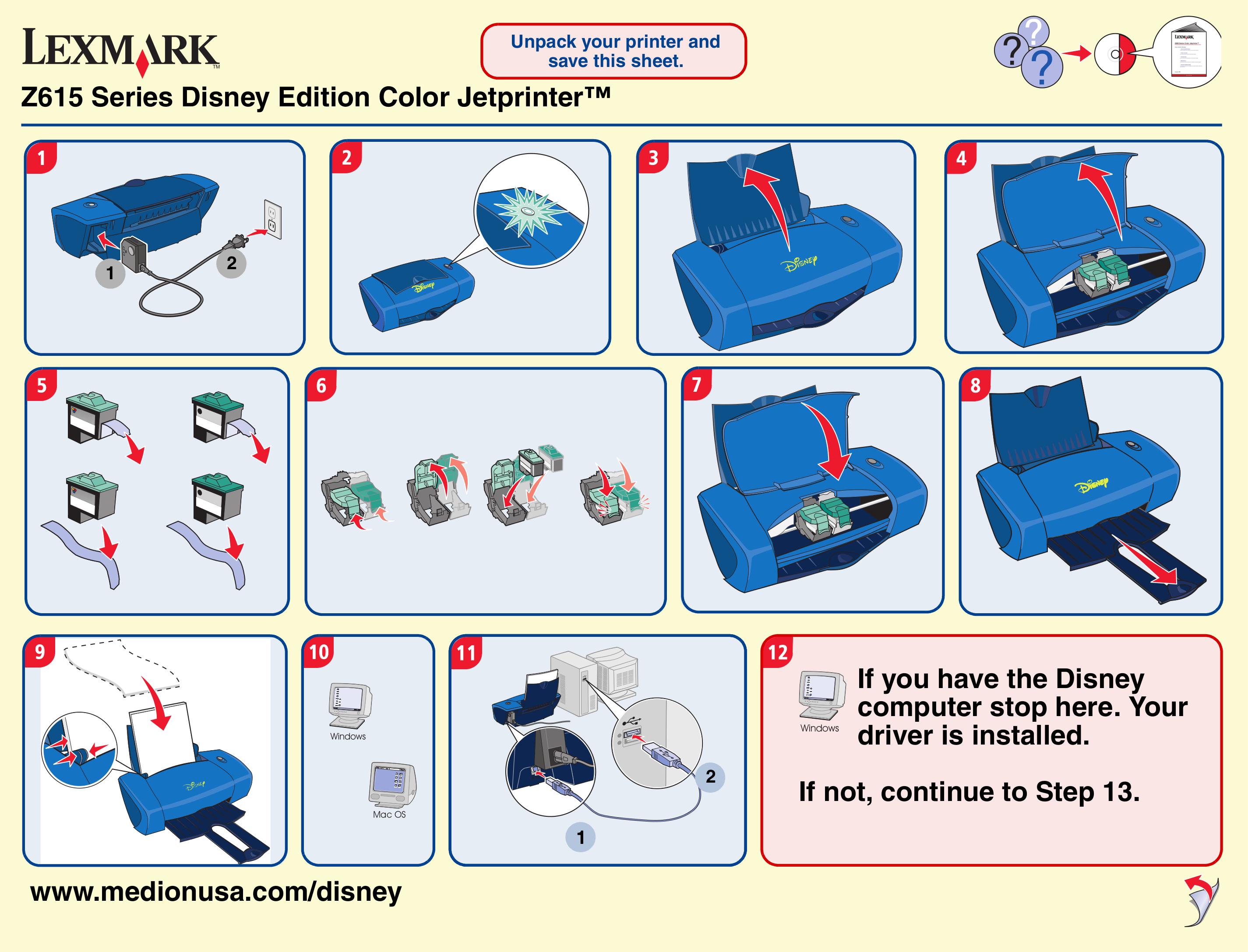 pdf for Lexmark Printer Z600 manual