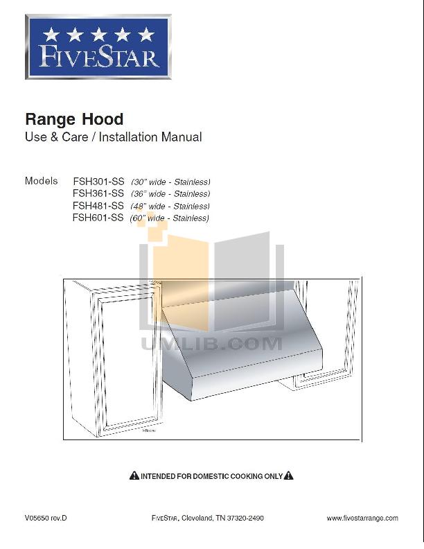 pdf for FiveStar Range TTN048-7S manual