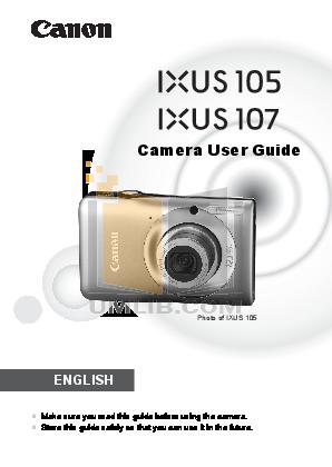 pdf for Canon Digital Camera IXUS 60 manual