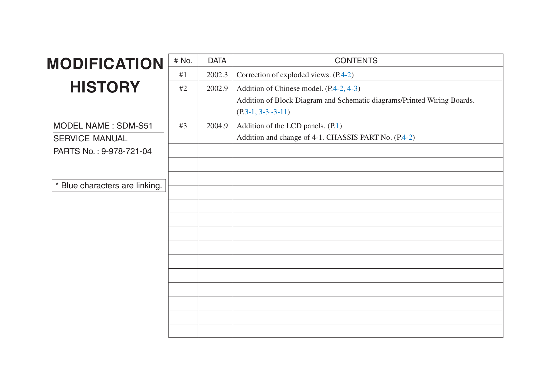 pdf for Sony Monitor SDM-S51 manual