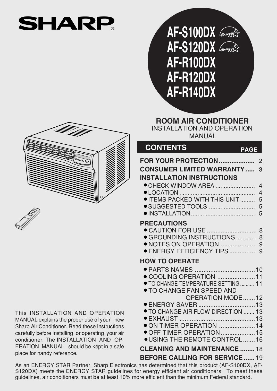 sharp air conditioner manual best air 2018 rh air vetsgwac us