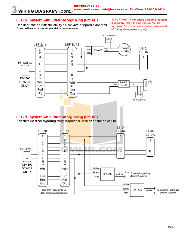 pdf manual for aiphone other lef 10 intercoms. Black Bedroom Furniture Sets. Home Design Ideas