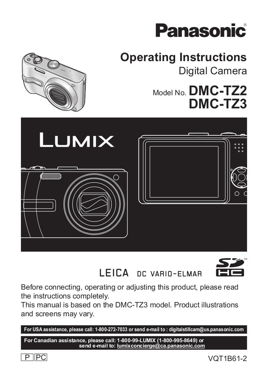 pdf manual for panasonic digital camera lumix dmc tz3 rh umlib com Panasonic DMC- TZ5 Waterproof Case Panasonic Lumix DMC TZ3