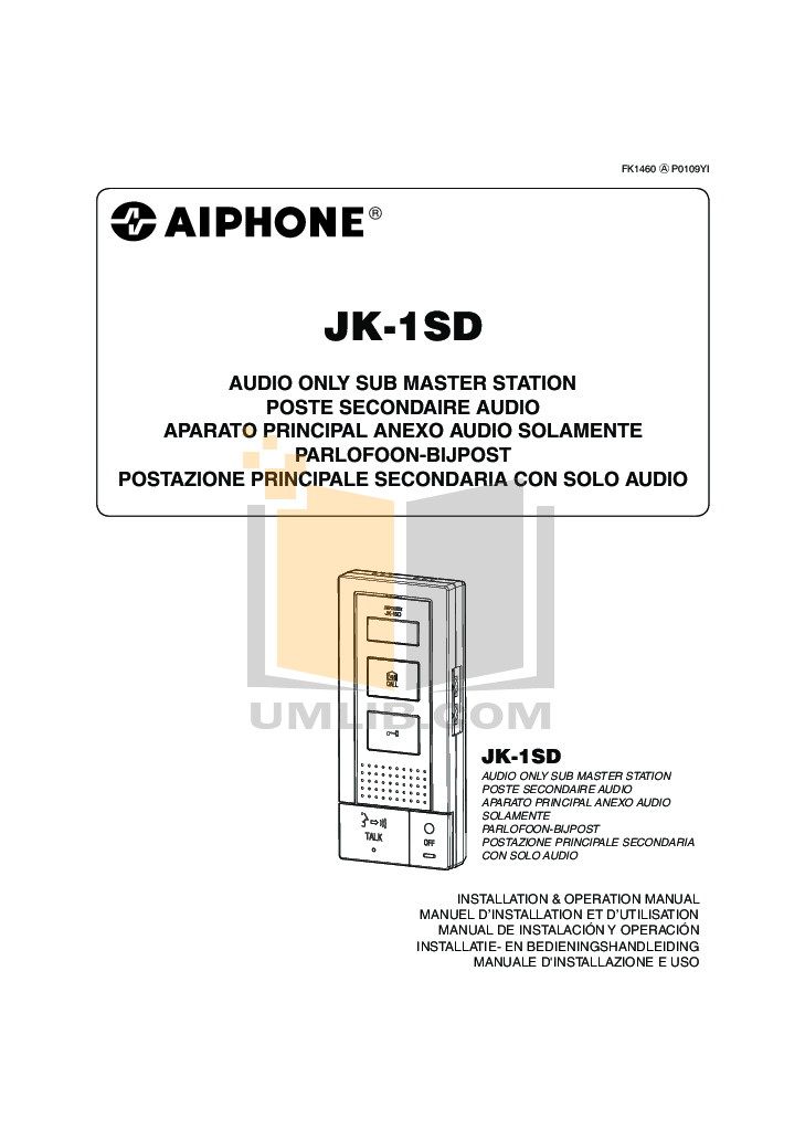 pdf for Aiphone Other MA-1A Intercoms manual