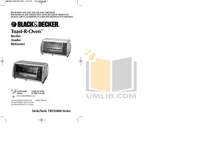 pdf for BlackAndDecker Oven TRO5000 manual