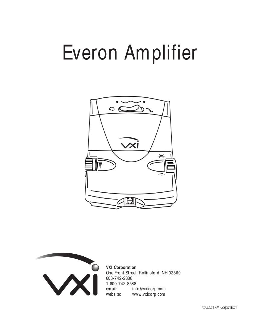 pdf for VXI Amp Passport Everon-V manual