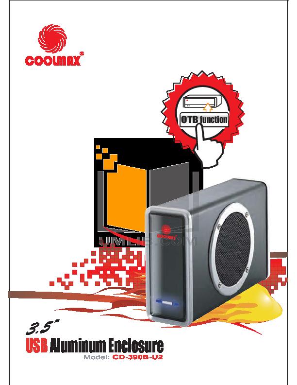 pdf for Coolmax Storage CD-390B-U2 manual