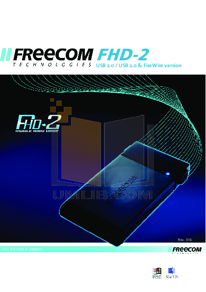 pdf for Freecom Storage FHD 1 manual