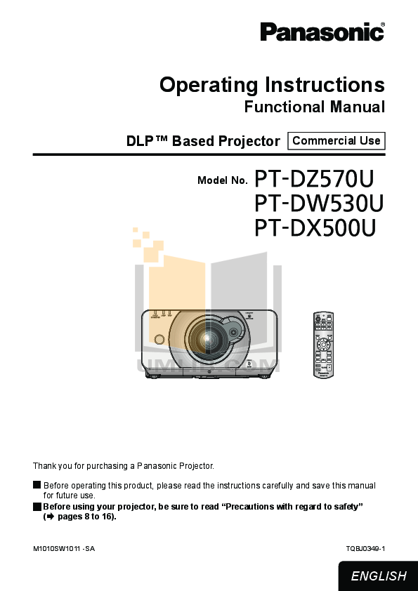 pdf for Benq Projector W100 manual