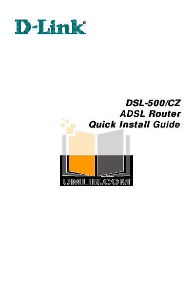pdf for D-link Other DSL-500 manual
