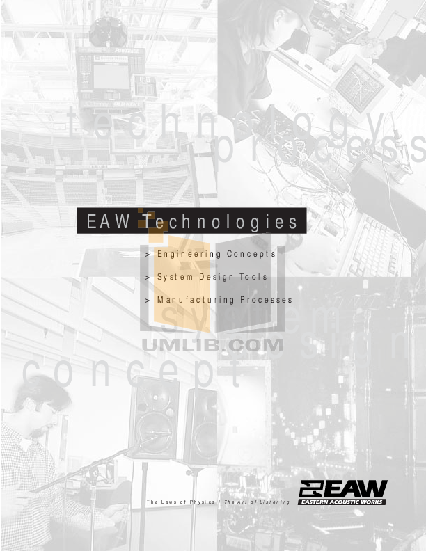 pdf for Eaw Speaker System KF855 manual