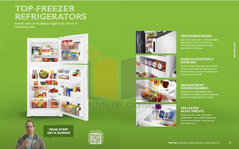 Amana Freezer AQU1613TEW pdf page preview