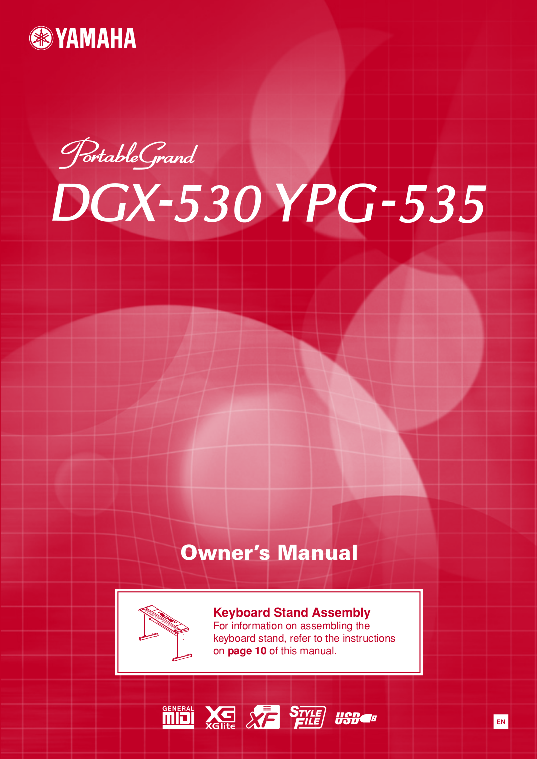 pdf for Yamaha Music Keyboard DGX-530 manual