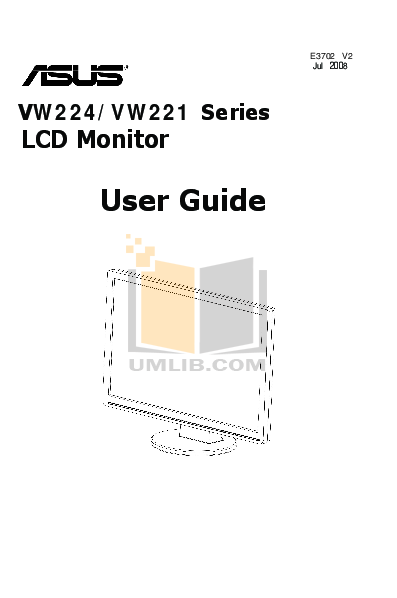 pdf for Asus Monitor VW221S manual