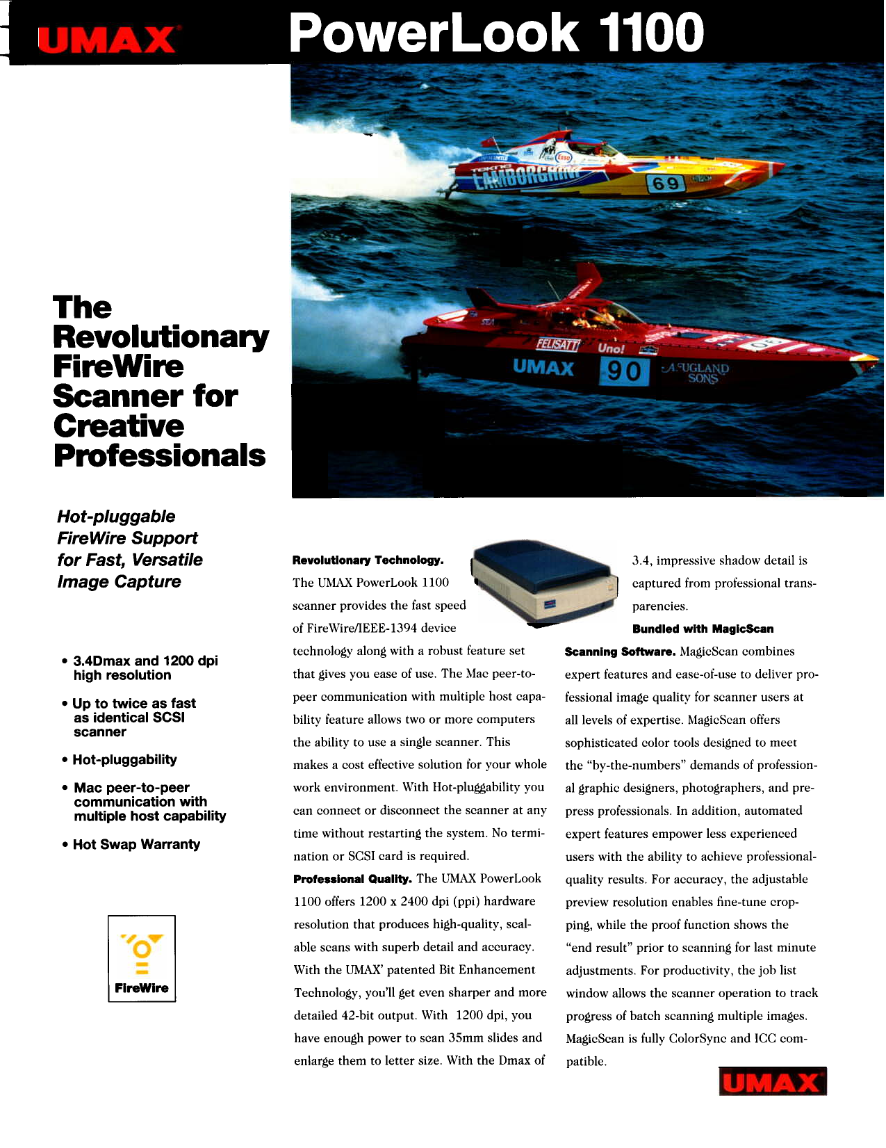 pdf for Umax Scanner PowerLook 1100 manual