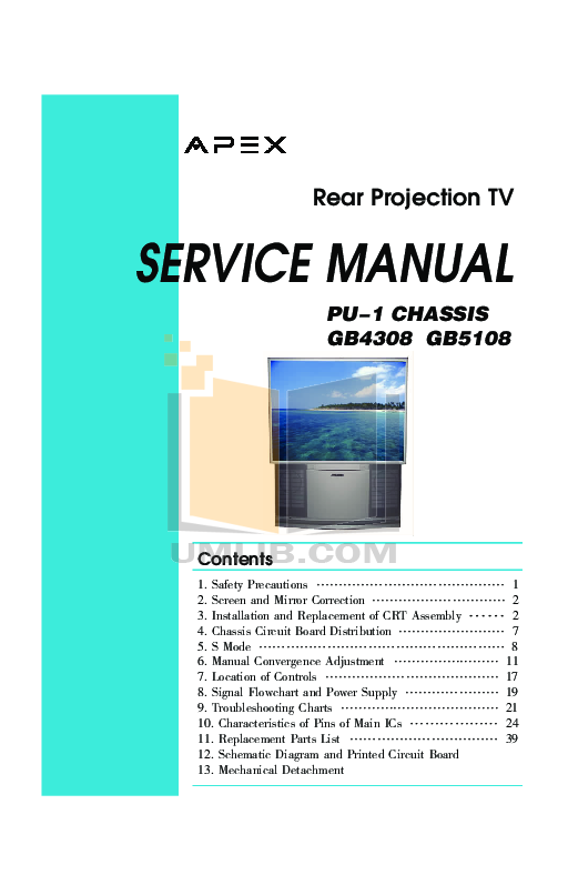 download free pdf for apex gb4308 tv manual rh umlib com Manual Book Service ManualsOnline