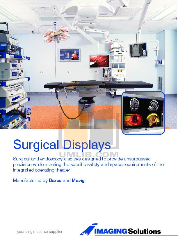 Barco Monitor MDSC-2124 pdf page preview