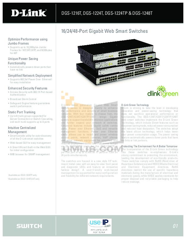 24-port dgs-1224t firefox web-smart switch.