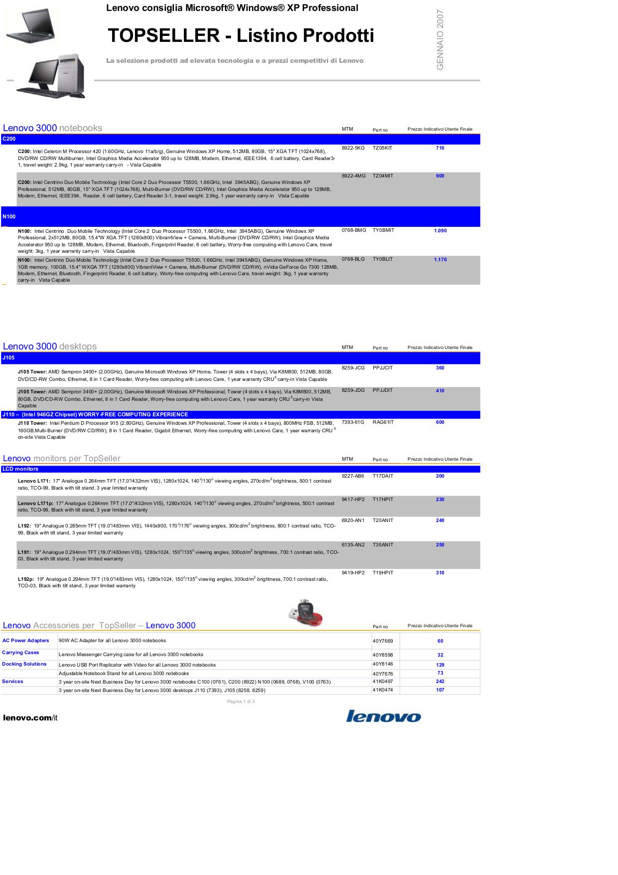 pdf for Lenovo Desktop ThinkCentre A60 8991 manual