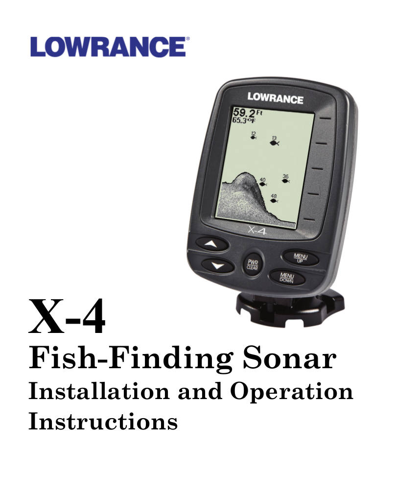pdf for Lowrance GPS XOG manual