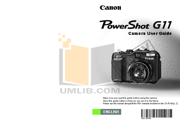 pdf for Canon Digital Camera Powershot G11 manual