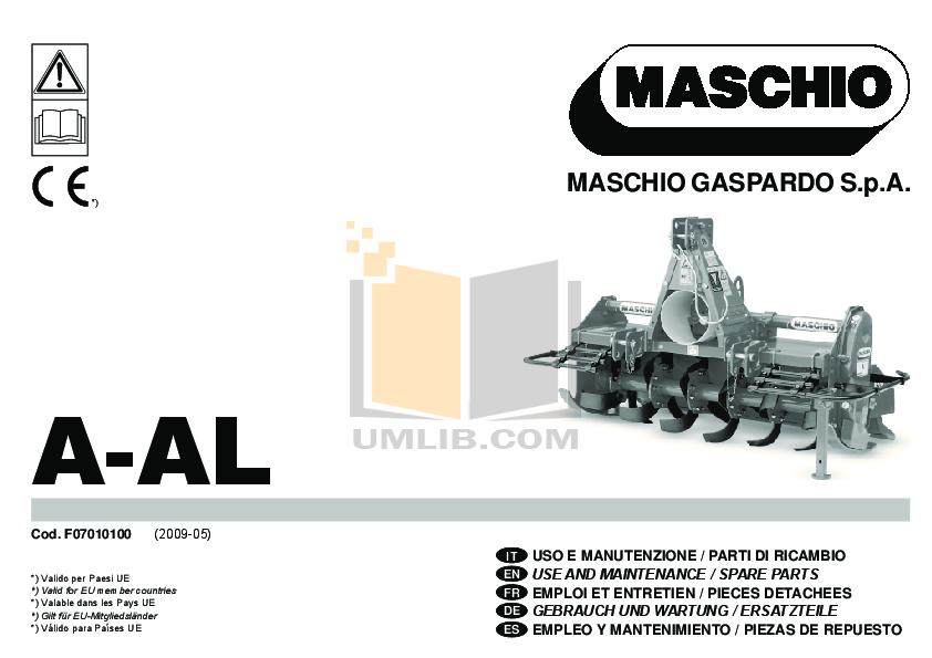 maschio power harrow workshop manual