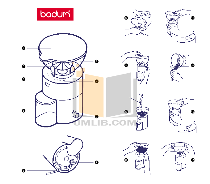 Pdf Manual For Bodum Other 5670 Antigua Coffee Grinders