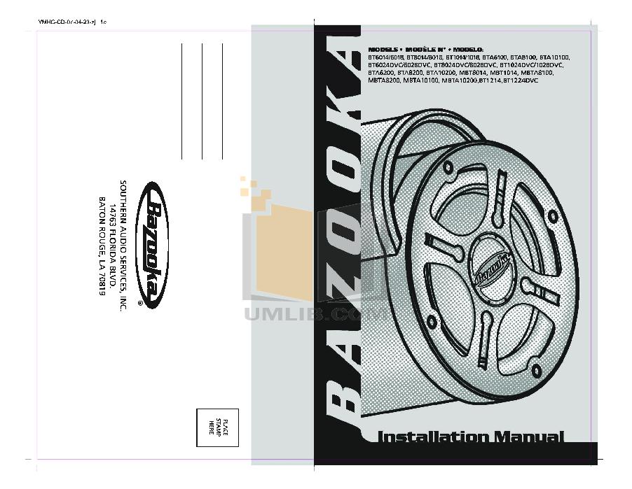 Tubesmanual trilingualforweb.pdf 0 wat bta6100 wiring harness diagram wiring diagrams for diy car repairs Bazooka Tubbies Wiring at readyjetset.co