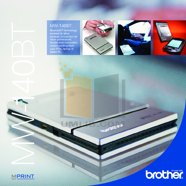 pdf for Brother Printer MW-140BT manual