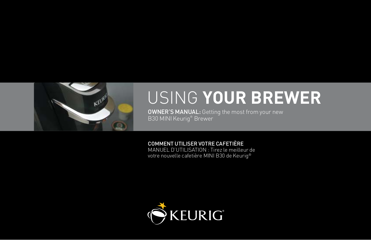 pdf for Keurig Coffee Maker B30 manual