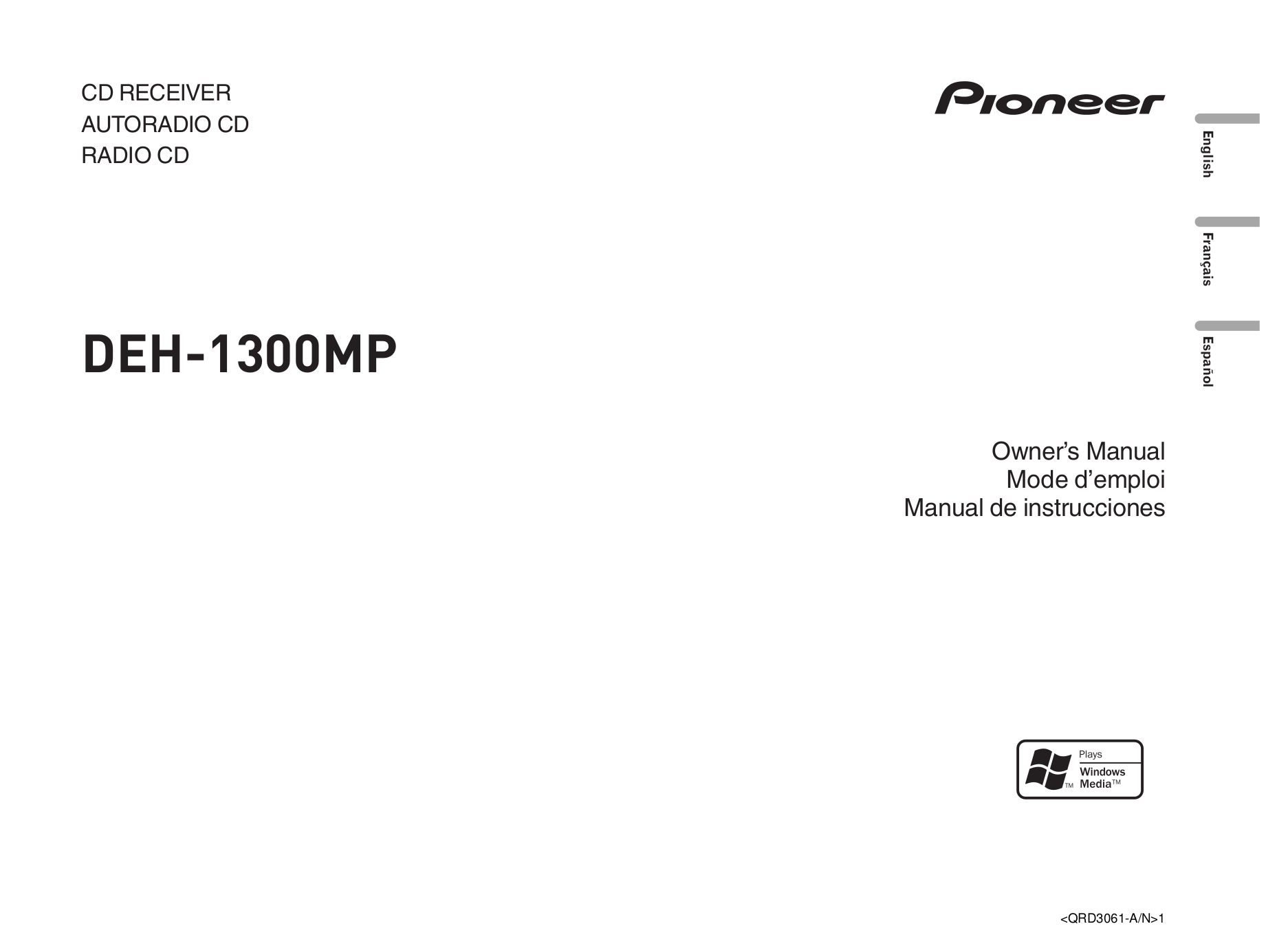 download free pdf for pioneer deh 17 car receiver manual rh umlib com Pioneer Deh 4400HD Pioneer Deh Wiring Harness Diagram