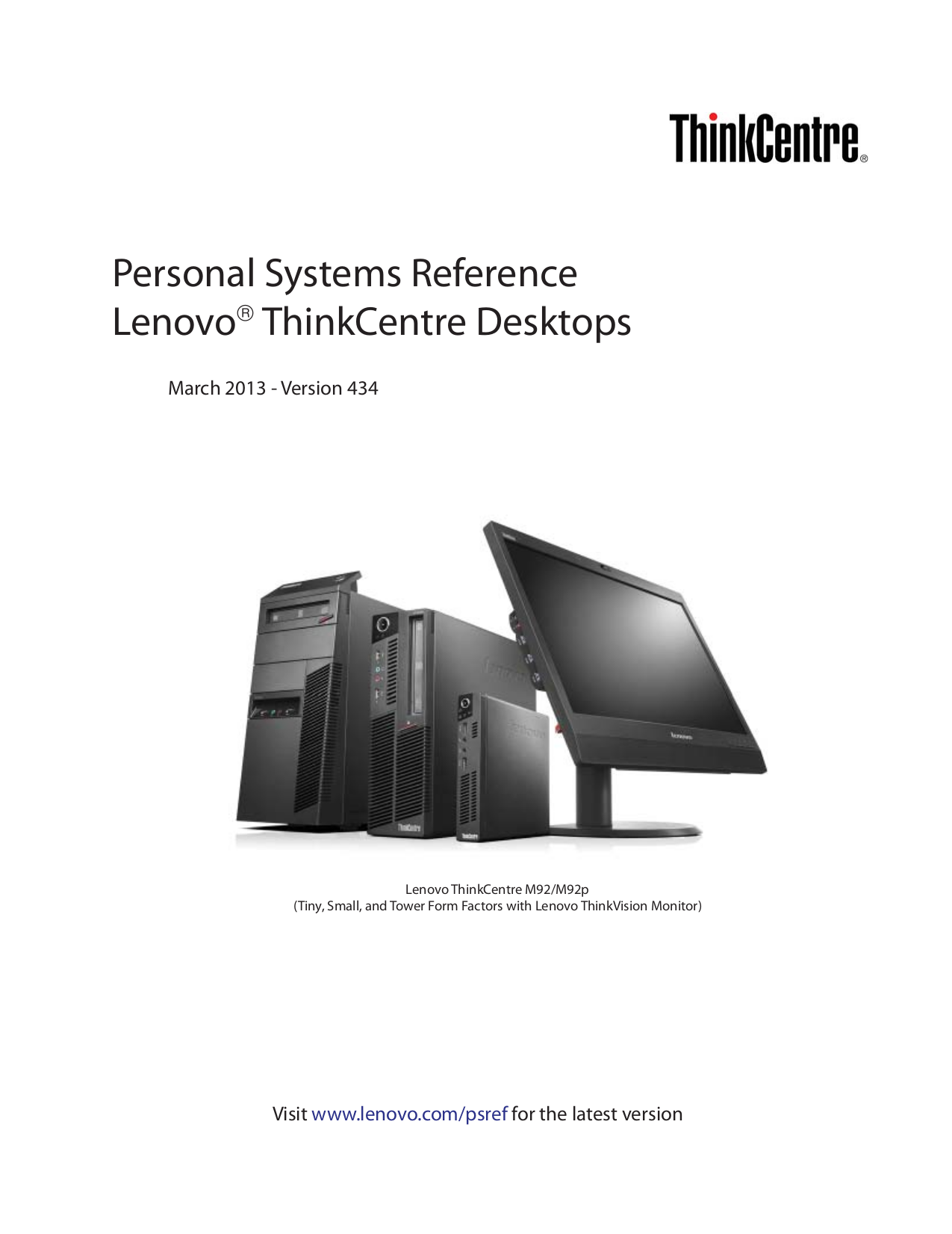 pdf for Lenovo Desktop ThinkCentre M91p 4518 manual