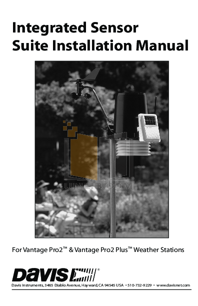 pdf for Davis Other Vantage Pro2 Console weather-accessories manual