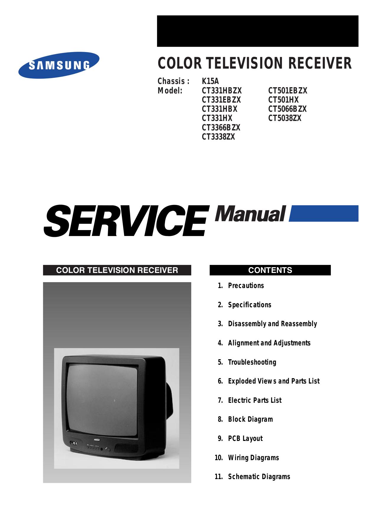 pdf for Samsung TV CT3338 manual