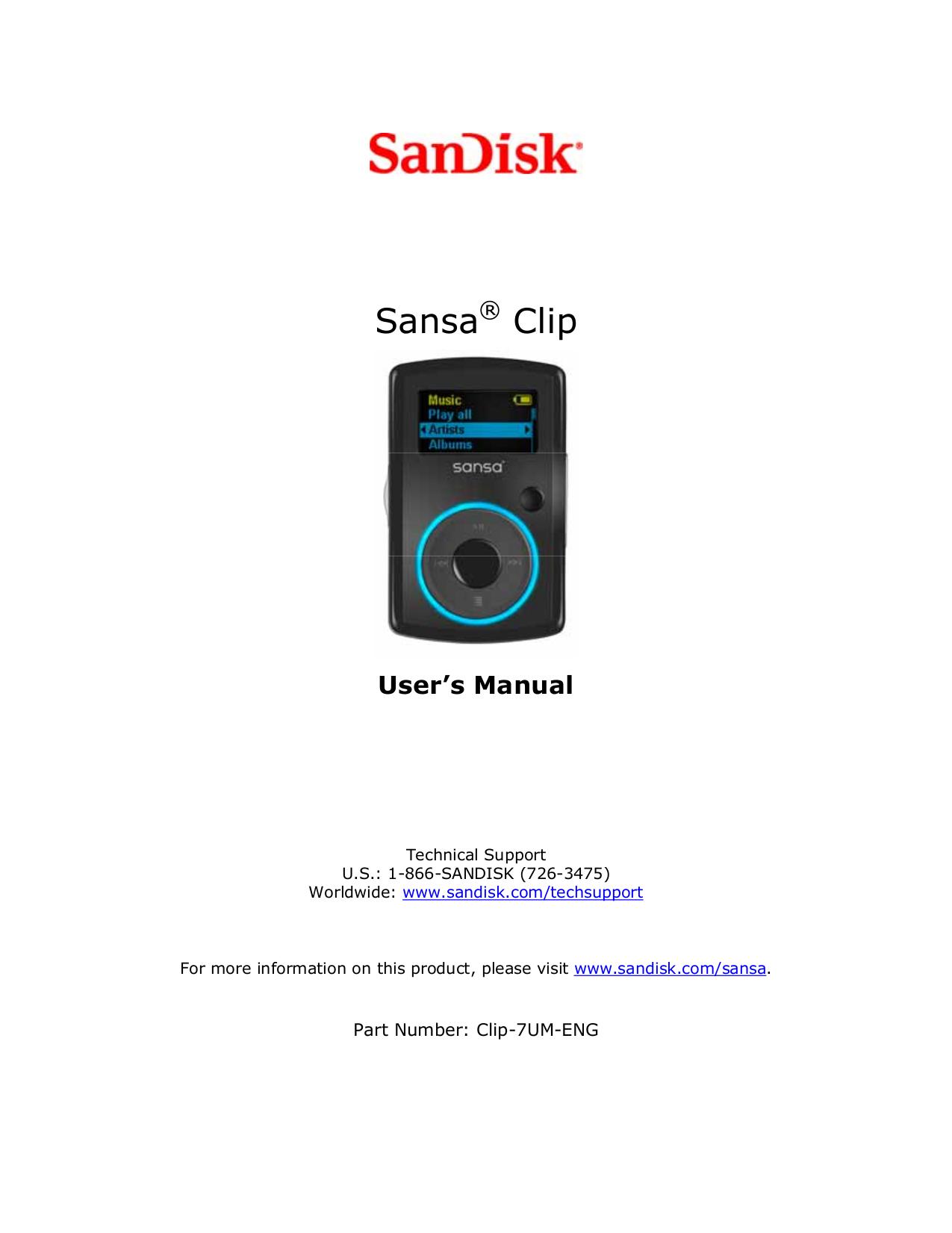 Sansa player manual.