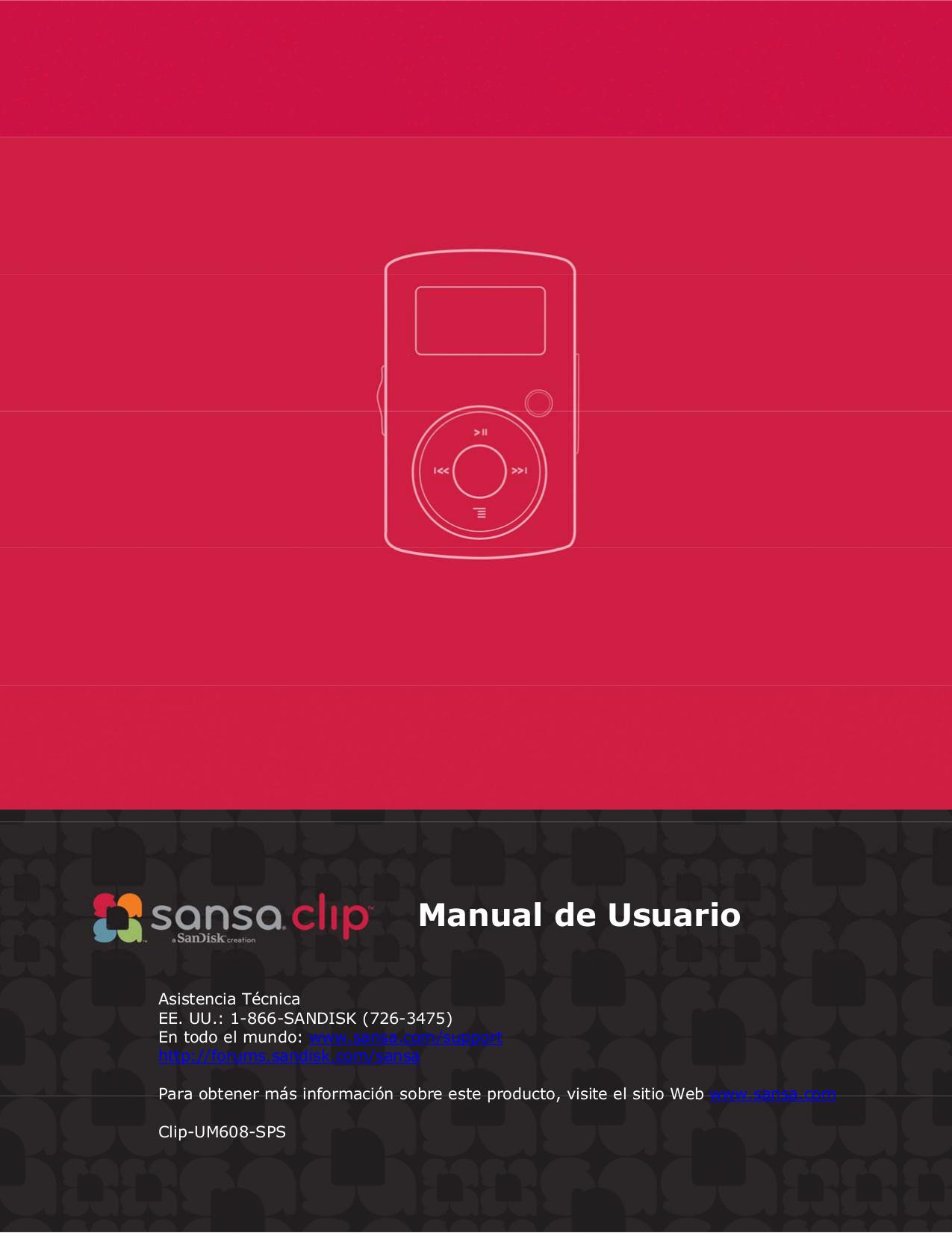 Sansa c240 manual.