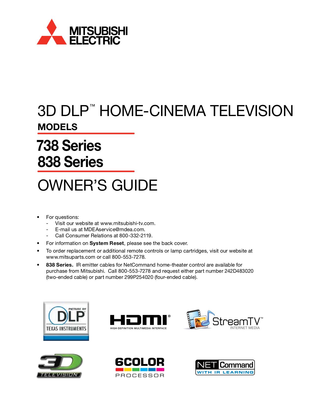 download free pdf for mitsubishi wd 82738 tv manual rh umlib com Mitsubishi WD 82738 TV Mitsubishi 915B441001 Bulb Light