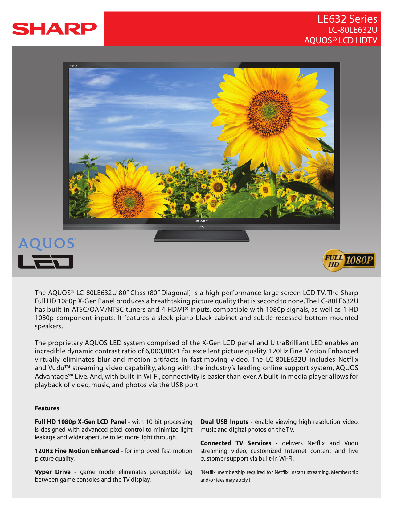 download free pdf for sharp aquos lc 80le632u lcd tv manual rh umlib com Sharp LC 80LE632U Parts sharp lc-80le632u manual