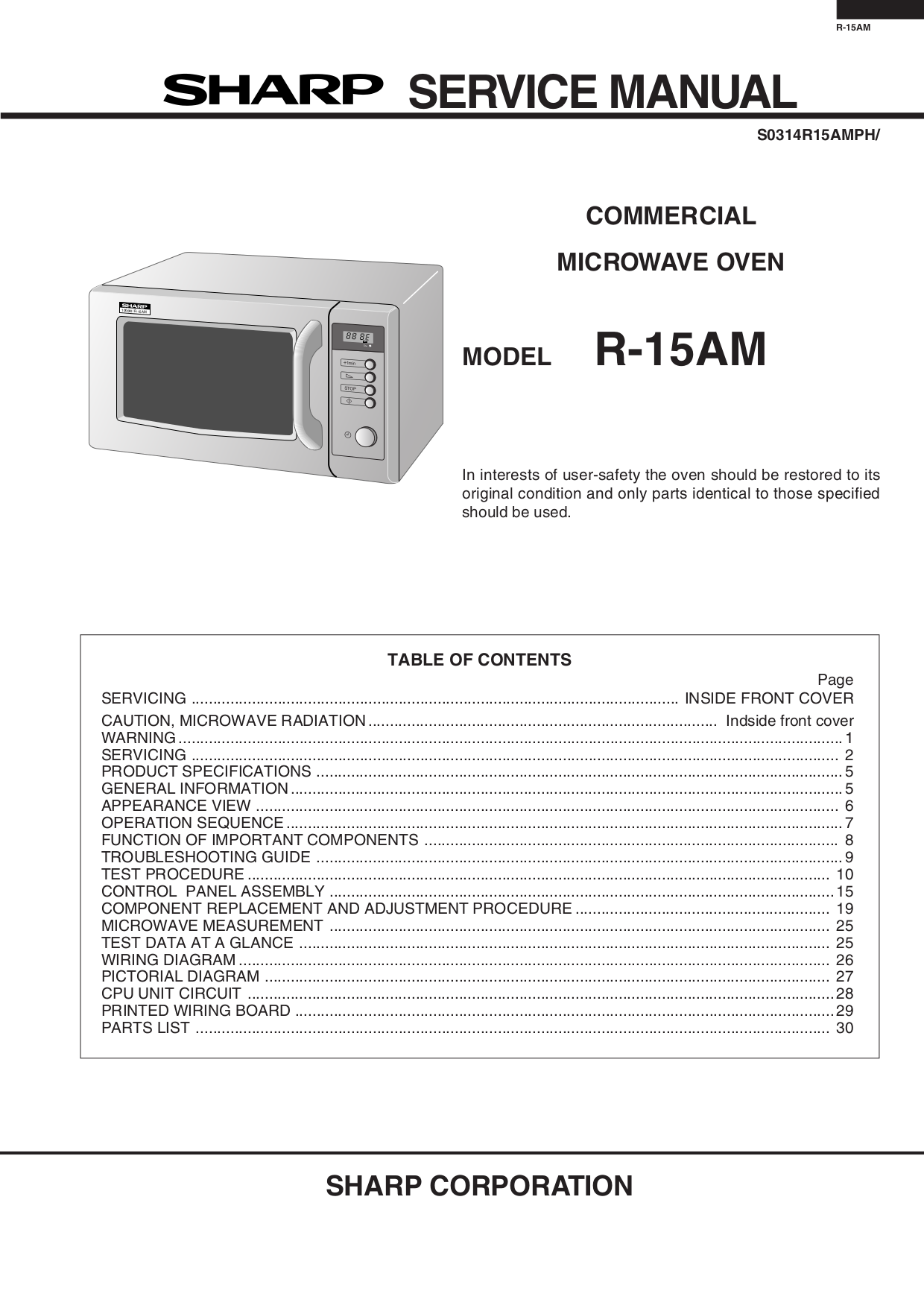 sharp r 580d wiring diagram wiring diagram and schematics pdf for sharp  microwave r 520l manual