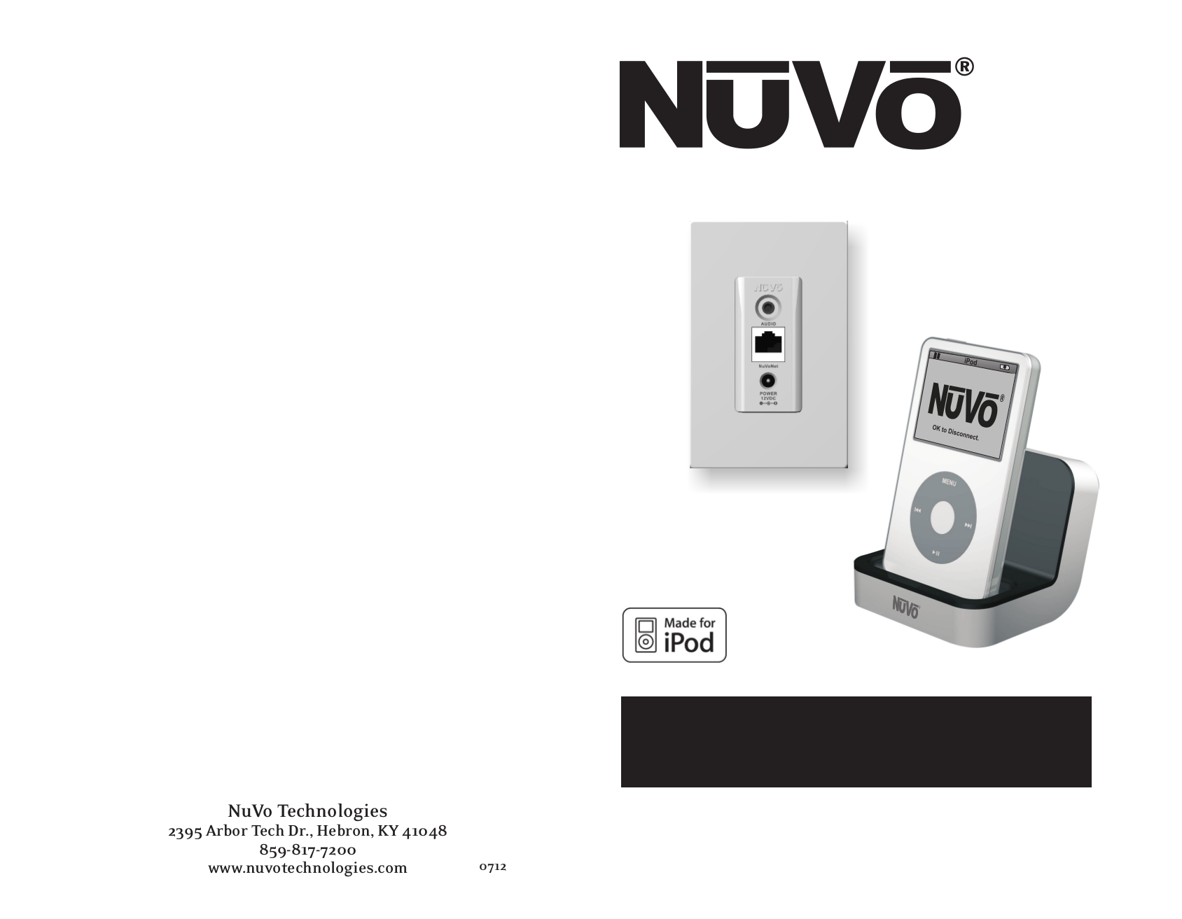 pdf for Nuvo Receiver NV-I8GMS manual